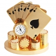 Miniature Clock - Poker kaarten